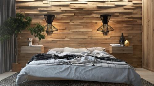 Спальня в деревянном стиле. Деревянная спальня