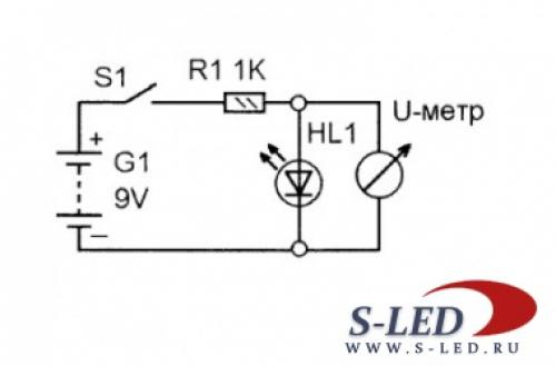 Светодиод напряжение. Как узнать напряжение светодиода?