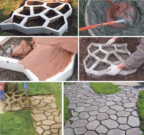 Формы для изготовления садовых дорожек своими руками. Собственноручное изготовление форм