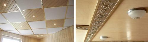 Потолок на даче своими руками чем обшить. Чем помимо вагонки можно отделать потолок в дачном доме
