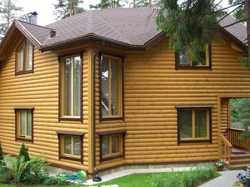 Наружная отделка деревянного дома варианты. Декоративная плиточная продукция