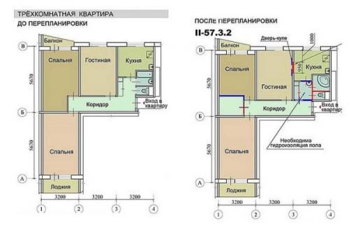 Дизайн интерьера 3 х комнатной квартиры в хрущевке. Перепланировка 3 х комнатной хрущевки