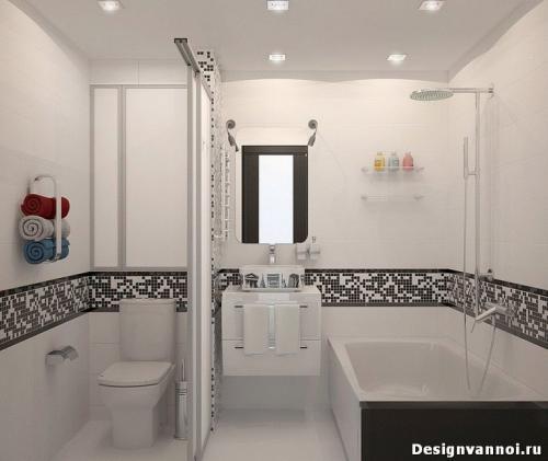 Вход в ванную комнату под углом. Планировка совмещенной ванной комнаты