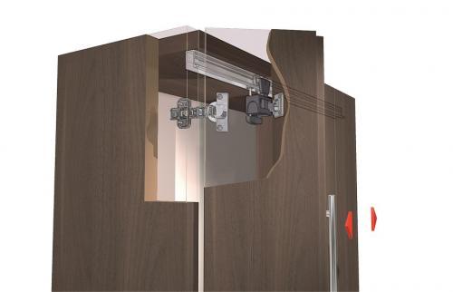 Складные двери для кухонных шкафов. Виды механизмов: Hettich, Blum, Boyard