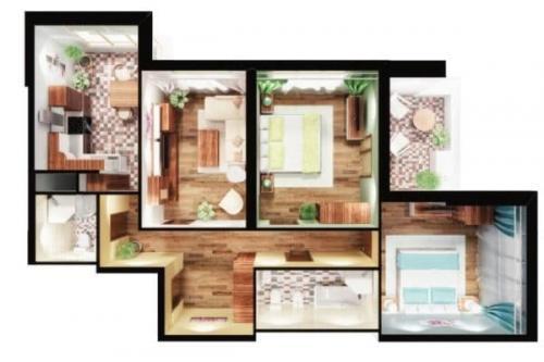 Планировка угловой трехкомнатной квартиры. Особенности планировки