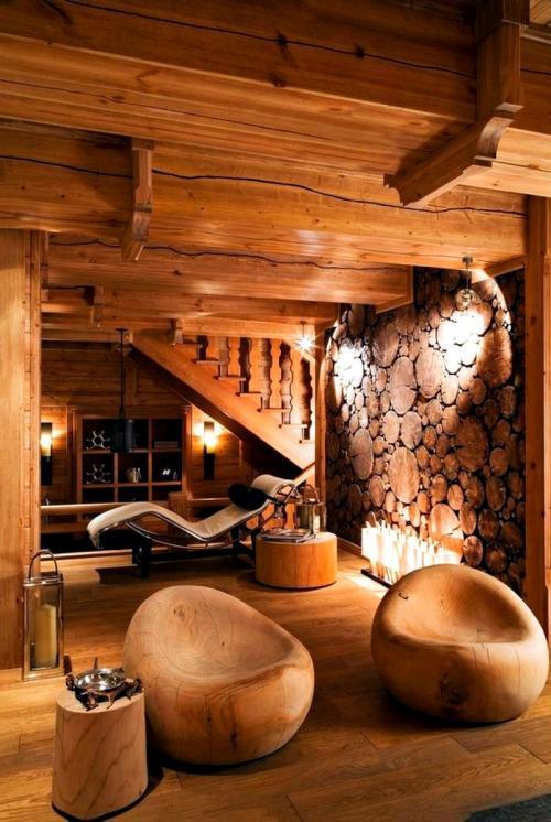 Дизайн деревянного дома в разных стилях. Дизайн интерьера