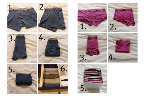 Как сложить женское белье лучший вакуумный упаковщик на алиэкспресс