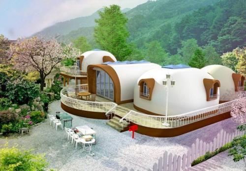 Купольные дома из пенопласта. Японские дома из пенопласта: под ключ за 2 недели, срок службы – 300 лет!