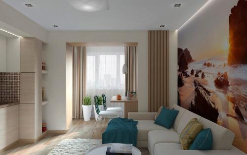 Интерьер комнаты в однокомнатной квартире. Советы по выбору дизайна однокомнатной квартиры