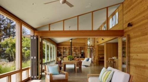 Интерьер загородного деревянного дома. Интерьер деревянного дома: варианты внутреннего оформления