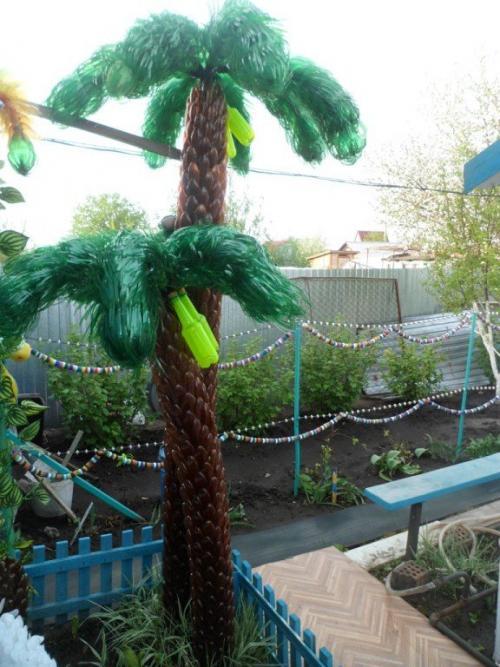 Листья для пальмы из пластиковых бутылок. Пальма из пластиковых бутылок своими руками поэтапно с фото и видео