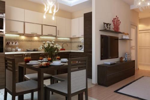 Объединение кухни с газовой плитой и гостиной. Основные требования к переустройству, перепланировке