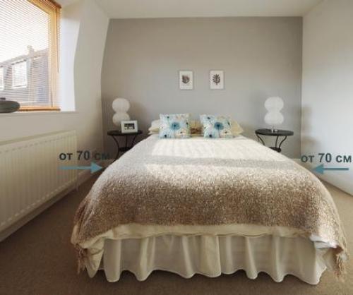 Узкая спальня, как поставить кровать. Планировка узкой спальни: как поставить кровать