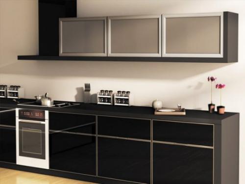 Кухня стилла с алюминиевым профилем. Свойства алюминия в интерьере кухни