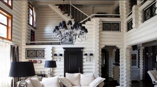 Интерьер загородного дома деревянного. Создаем стильный интерьер деревянного дома