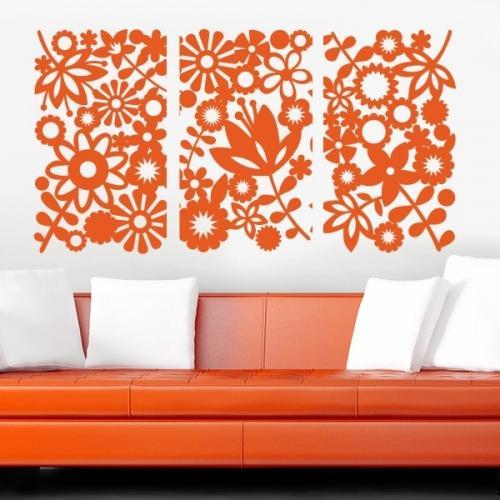 Рисунки на стене цветов. Основные виды трафаретов