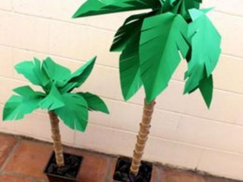 Декоративные пальмы своими руками. Как сделать натуралистичную высокую и объемную пальму из бумаги