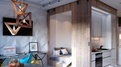 Дизайн малогабаритной однокомнатной квартиры. Дизайн однокомнатной квартиры