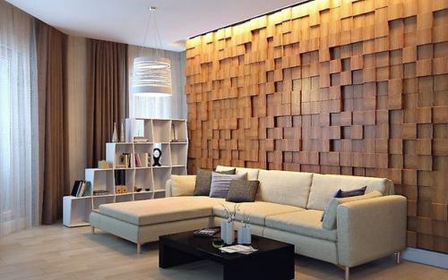 Декоративное панно из дерева. Потрясающий декор стены за небольшие деньги – эффектное 3D панно из деревянных брусков