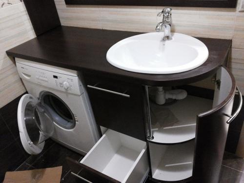 Расстановка мебели в ванной.  Правильный выбор рукомойника