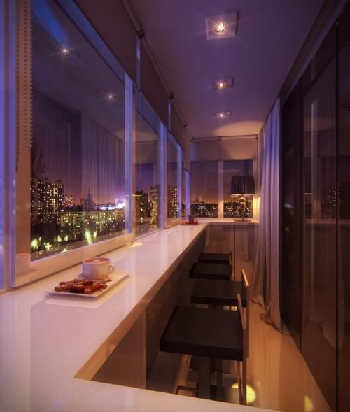Кухня с выходом на балкон. Балкон, совмещенный с кухней — 100 фото идей дизайна