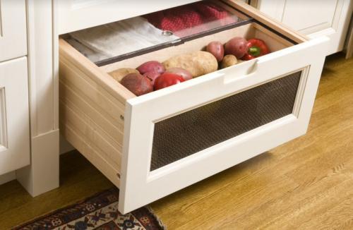 Где хранить овощи на кухне. 25 фото ящиков для овощей на кухне и советы дизайнера