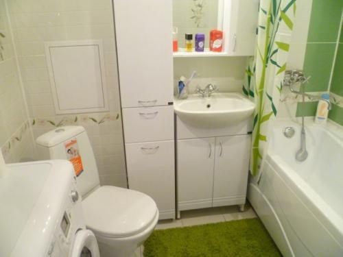В хрущевке санузел раздельный. Планировка ванной комнаты