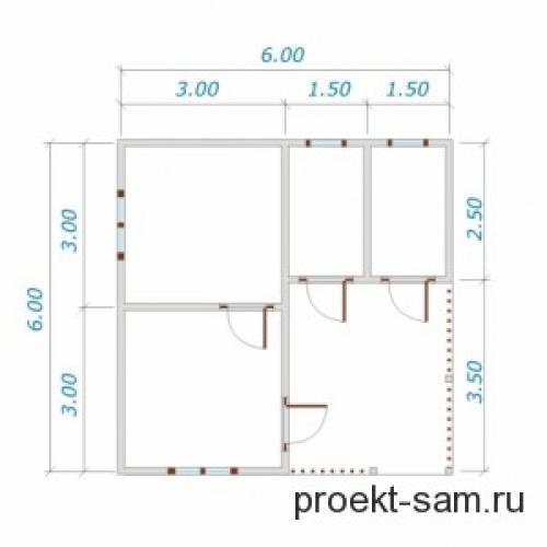 Планировка одноэтажного дома 10х12. Удобная планировка одноэтажного дома