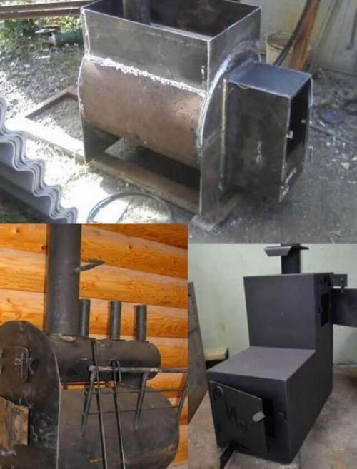 Банные металлические печи. Чертежи банной печи из металла – строим печь своими руками